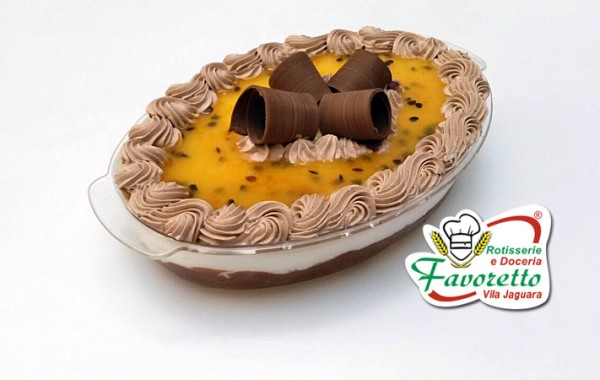 Pavê Mousse de Chocolate com Creme de Maracujá