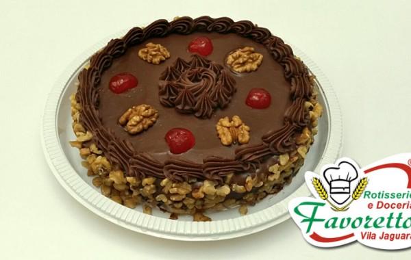Torta de Nozes com Ganash