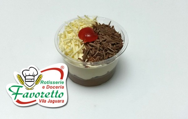 Mousse de Chocolate preto e branco