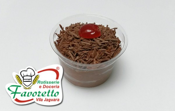 Mousse de chocolate preto