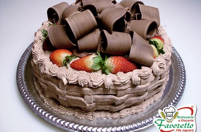 Mousse de Chocolate com Morango