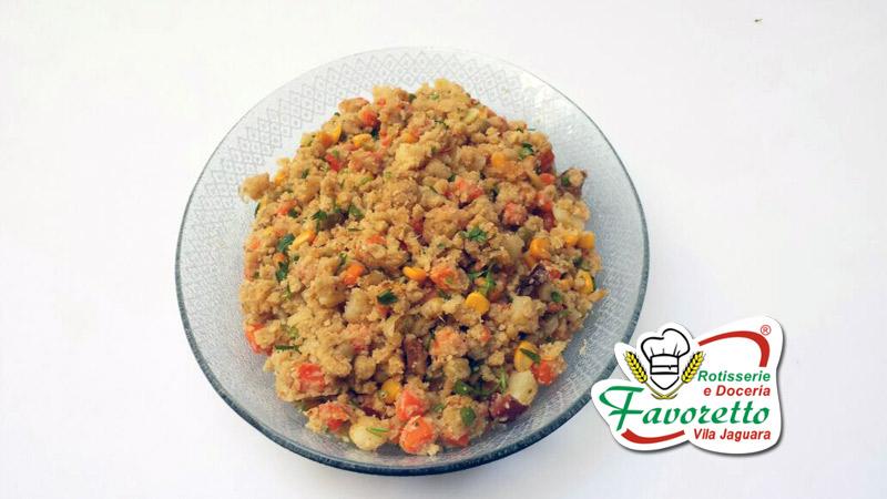 Farofa com legumes